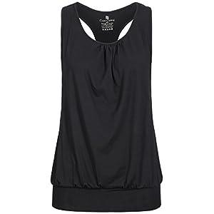 lilikoi Damen Yoga Lifestyle Sport Hipster Shirt Top Bambus
