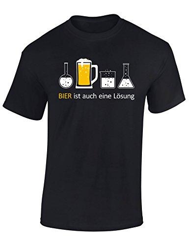 Bier T-Shirt : Bier Ist Auch Eine Lösung - Geschenk für Bierliebhaber - Geschenke für Männer - Bier-Trinker - Craft-Beer - Oktoberfest - Brauer-Ei - Lustig - Fun - JGA - Saufen - Trinken (XL) - Lösungen Der Leber