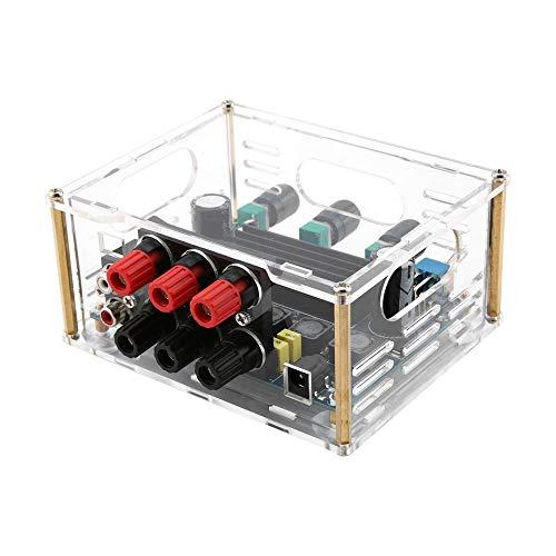 WEIWEITOE-DE TPA3116D2 2.1 HiFi Digital Stereo+Subwoofer Audio Amplifier+Case 50W*2/ 100W*1 Development Board Module Kit Board
