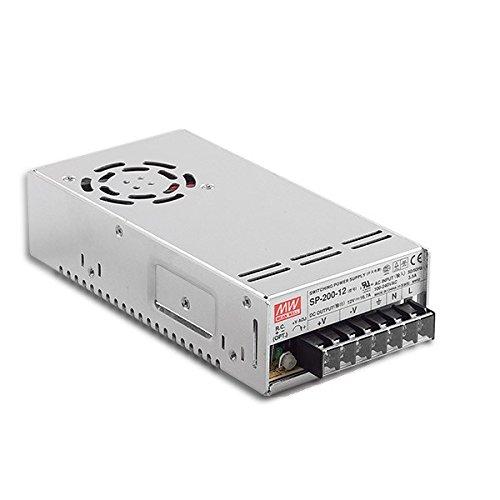Fuente de alimentación LED transformador MeanWell SP de 200–12–Fuente de alimentación conmutada, 12V/16,7a/200W LED transformador para iluminación LED