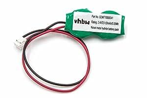 Batterie BIOS ni-MH vhbw 20mAh (2.4V) pour ordinateur portbale, notebook Toshiba Satellite 1800 PS181L-00WYF, 1805 PS181U-00CFUHE, 2140CDS, 2500CDS
