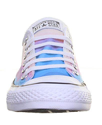 Converse All Star Ox Femme Baskets Mode Multicolore Rosa / Azul