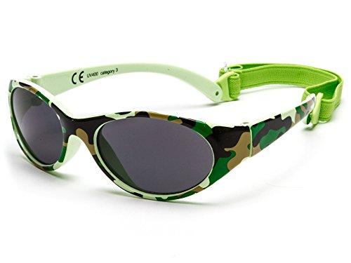 Kiddus Sonnenbrille Kids Comfort Junge und Mädchen. Alter 2 bis 6 Jahre. Total Flexible Modell für Extra Komfort. Mit Band und sehr Resistent. 100% UV-Schutz. Nützliches Geschenk (KI30414)