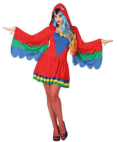Papagei Für Kostüm Erwachsene - Atosa26926Kostüm für ErwachsenePapagei, Größe XS-S