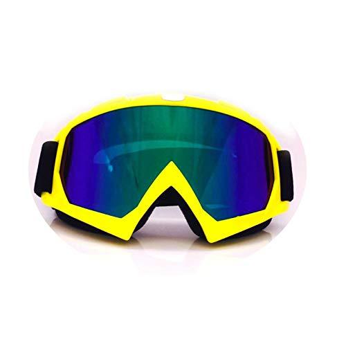 Aeici Sportbrille TPU+PC Sportbrille Polarisiert Herren Schutz Brille BAU Gelb Transparent Bunt