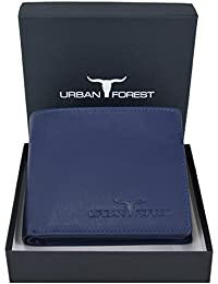 URBAN FOREST Blue Leather Wallet for Men