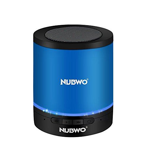 Bluetooth Lautsprecher,NUBWO A3 Kabelloser Tragbare Lautsprecher,Outdoor Mini Wireless Speaker mit Multifunktions-Stereo, Eingebautem Mikrofon,Freisprechanruf,LED-Licht,TF-Kartensteckplatz(Blau)