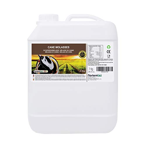 NortemBio Agro Melaza de Caña 7 Kg. 100% Natural. Favorece el Crecimiento de Cultivos. Uso Universal. No Sulfurada. Producto CE