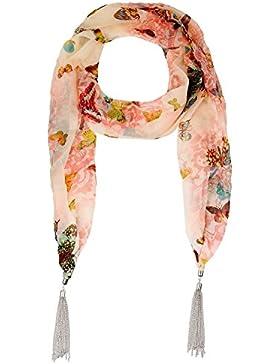 Lureme® borlas de metal tono rodio estilo bohemio de la vendimia con la mariposa y la flor de la impresión del...