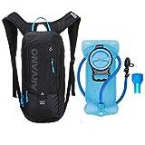 6L Mini Bike Backpack Imperméable, Hydratant Pack avec 2L Sac à dos Water Sac à dos de vélo à ski, Sac à dos respirant à l'épaule Léger pour les sports d'extérieur Camping Randonnée pédestre