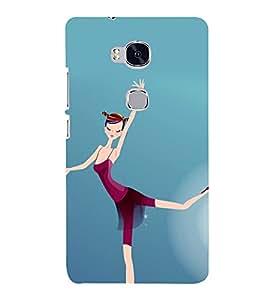 printtech Ballet Dancer Girl Back Case Cover for Hwawei Honor 5X