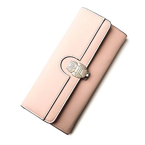 Portafoglio Donna, Tpulling Borsa multifunzionale della borsa della borsa della borsa del raccoglitore della frizione delle donne (Pink) Pink