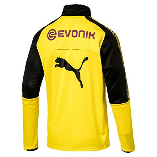 Puma Herren Bvb 1/4 Training Top with Sponsor Logo T-Shirt Gelb