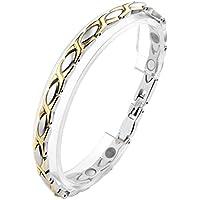 JOVIVI Damen Magnetarmband Edelstahl Magnetische Armband Armreif Magnete Armband Armrief Silber+Gold preisvergleich bei billige-tabletten.eu