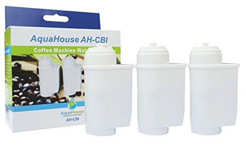 3x AquaHouse AH-CBI Kompatibel für Bosch TCZ7033 Wasserfilter BRITA Intenza 3 Stück für alle...