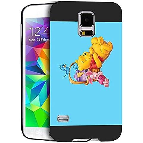 Winnie The Pooh Bear And Friends Samsung S5 I9600 Custodia Protettiva Winnie The Pooh Bear And Friends - [ Disney ] Durevole Galaxy S5 I9600 Case Cover Winnie The Pooh Bear And Friends Samsung Galaxy S5 I9600 Skin For Ragazzi
