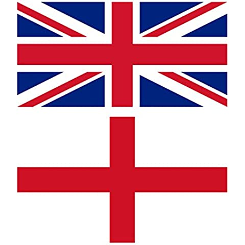 MEGA VALUE TWIN PACK St George Cross England Flag + Union Jack Flag Quality Supporter Fans Large Flags 5'x3' (ft) by My