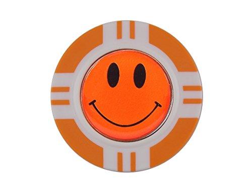 magnetisch Poker Chip und Orange Smiley, Ball Marker von Mercia Golf.