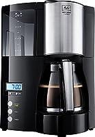 Melitta 100801 Optima Timer Kaffeefiltermaschine - schwarz/Edelstahl