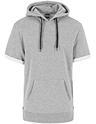Urban Classics Herren Sweatshirt Kapuzenpulli Short Sleeve Side Zipped Hoody