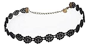 Black Floral Choker - Sexy Lace Material which is Adjustable!
