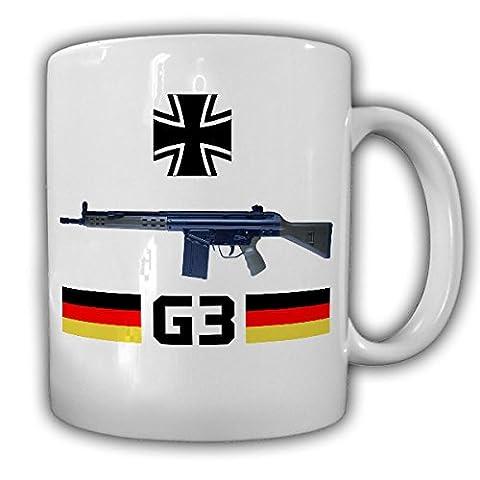 G3 Sturmgewehr Bundeswehr Gewehr Waffe Deko Militär 7,62mm × 51 BW Bund Deutschland Grundausbildung AGA Schießprügel Knifte - Tasse Becher Kaffee #14784