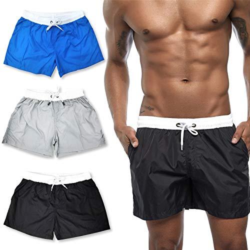 Element Jungen-shorts (HASAGEI Badehose für Herren Badeshorts Männer Schwimmhose Jungen Boardshorts Sport Shorts Surf Beachshorts (M, Schwarz))