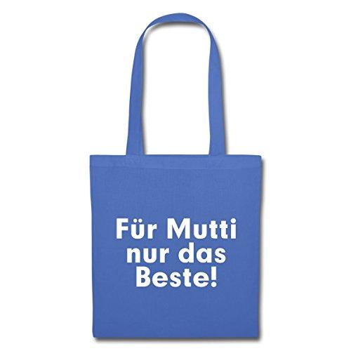 Spreadshirt Per Mamma Solo Il Meglio! Borsa In Tessuto Azzurro