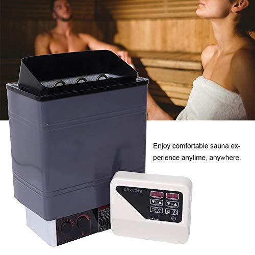 Rosvola kit generatore di doccia a vapore da 9 kw, stufa riscaldante per sauna con interruttore di protezione per alte temperature + controller con4 per vasca spa(unione europea)