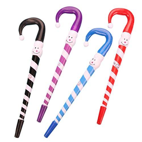 Fablcrew Kugelschreiber, nicht einziehbar, für Schreibwaren, Gel, in Form von Krücken für Kinder, Büro, Schule, Schreibwaren, Zubehör
