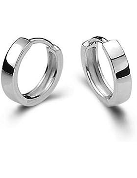 Shawa Unisex Creolen Silber 925 Poliert Ohrschmuck Klein Poliert Ohrringe