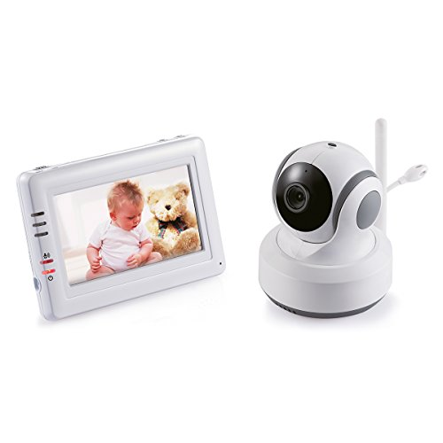 Switel BCF989 Video-Babyphone mit 4.3 Zoll, Farb-LCD-Touchscreen