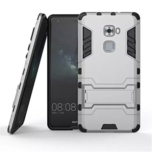 Apanphy Huawei Mate S Hülle , Dual Layer Kratzfeste Tasche Schutzhülle mit Ständer für Huawei Mate S case cover, Grau
