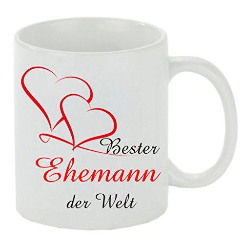 Kaffeebecher ' Bester Ehemann der Welt ' Kaffeetasse, Kaffeetasse mit Motiv, bedruckte Tasse mit Sprüchen oder Bildern - auch individuelle Gestaltung nach Kundenwunsch Teetasse, Bürotasse
