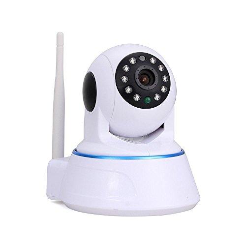 """Preisvergleich Produktbild Wireless schwenkbare Überwachungskamera 1.0MP HD 720P H.264 1 / 4 """"Farbe CMOS Zwei-Wege-Audio WLAN IP Kamera,  Pan / Tilt WiFi Sicherheit Kamera IR-Cut Nachtsicht Weiß"""