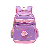 Adanina Princess Wind Ballet Girl Print with Bowknot Backpack Elementary School Bag Primary Students Book Bag for Kids Girls