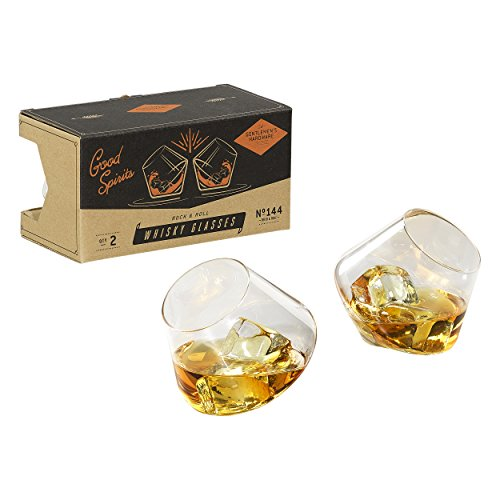 Gentlemen 's Hardware Rocken, Whisky Gläser, Silber, Set von 2