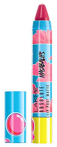 Lakme Absolute Lip Pouts Matte Masaba Lip Color, Bubble Pink, 3.7g