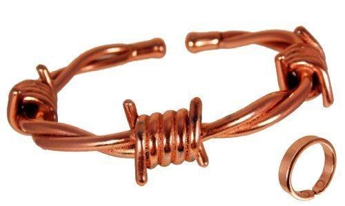 2a31fe238856 The Online Bazaar Rame Magnetico FILO SPINATO Braccialetto con finitura  liscia rame anello magnetico Combi Set