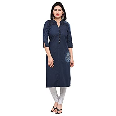 KVS FAB New Latest Denim Blue Color Fancy Kurtis