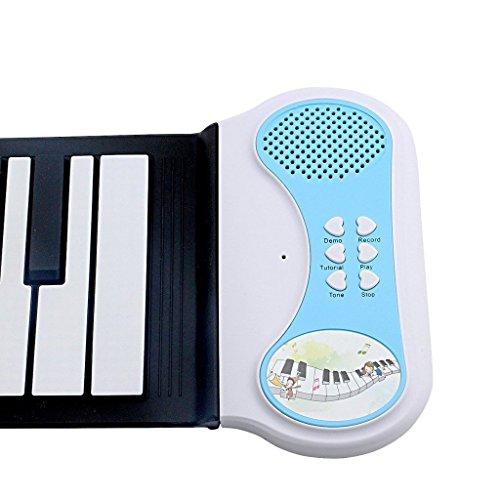 lifetsmart 37 key roll up piano children electronic piano children keyboard mini volume soft. Black Bedroom Furniture Sets. Home Design Ideas