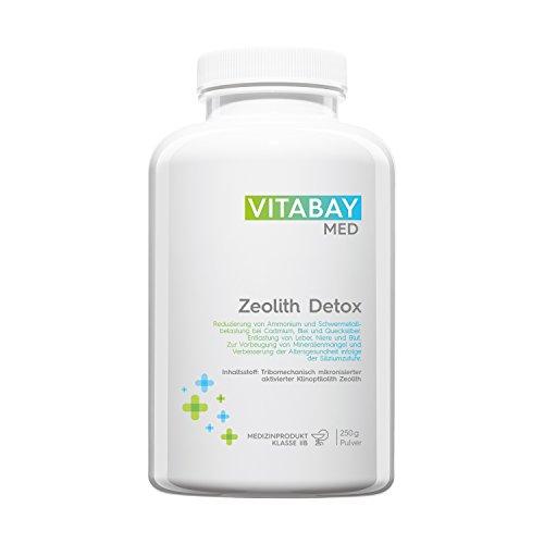 Zeolith Detox Pulver - Medizinprodukt zur Entgiftung 95% Klinoptilolith 250 g