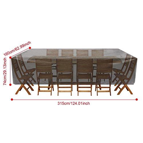 ... Wasserdicht Gartenmöbel Abdeckhaube, Essort 315 X 160 X 74 Cm  Schutzhülle Furniture Terrasse Abdeckung, ...