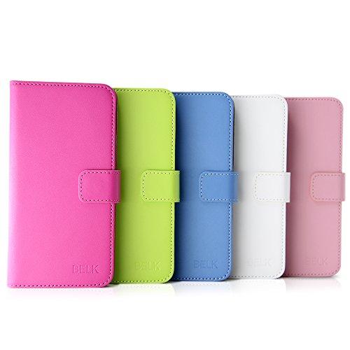 BELK iPhone 6s [4.7] Card Case, 360 Grad Abdeckungs-Kratzer-Beweis Auto mit Cardroom & Cash Side-Beutel f¨¹r iPhone 6s (Neueste Ausgabe 2015) - Pink Rose 6s