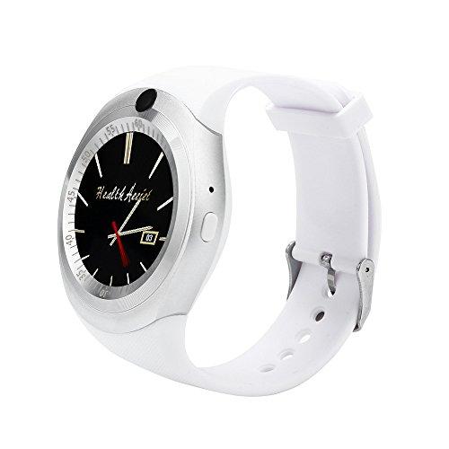 FeiliandaJJ Smartwatch Herren Damen Bluetooth Wasserdicht Fitness Tracker MP3/MP4-player SIM Karte Slot Smartwatch Anti-verloren Kompatibel Android IOS Phones (Weiß) Sport Mp4 Watch Player