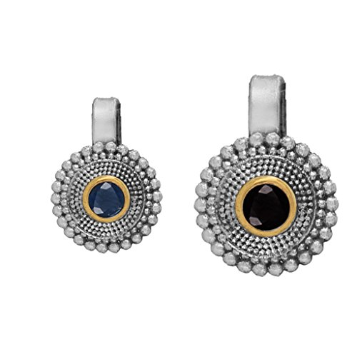 Fashion Honor Eid Silver & Gold Blue & Black Silver Plated Nose...