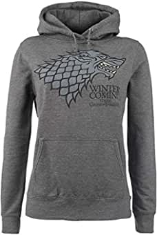 Game Of Thrones Juego de Tronos House Stark - Winter Is Coming Sudadera con Capucha Gris