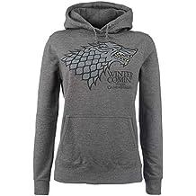 Juego de Tronos House Stark - Winter Is Coming Jersey con Capucha Mujer Gris/Melé