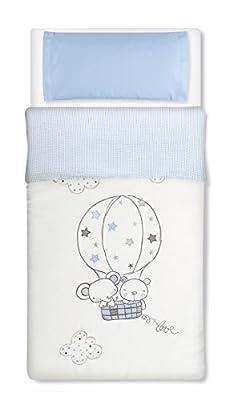 Saco nórdico desenfundable CUNA 60x120 - Globo Azul