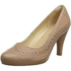Clarks Dalia Ruby, Zapatos de Tacón para Mujer, Hueso (Nude Leather), 37.5 EU